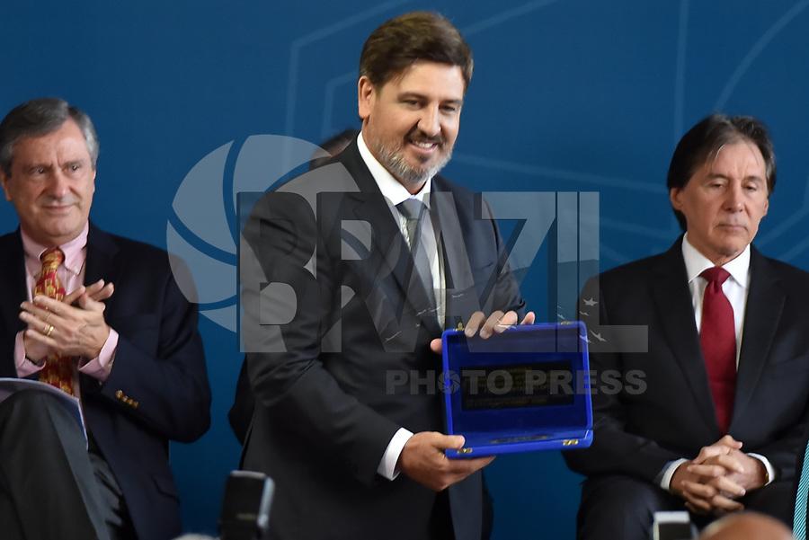 BRASÍLIA, DF, 20.11.2017 – POSSE-DIRETOR PF – O diretor-geral da Policia Federal, Fernando Segóvia, durante sua posse, na manhã desta segunda-feira, 20, no Ministério da Justiça em Brasília.(Foto: Ricardo Botelho/Brazil Photo Press)