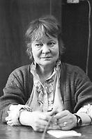 Iris Murdoch, è stata una filosofa,  scrittrice britannica, libri, cultura inglese. È conosciuta per le sue storie su temi filosofici, etici, e sessuali. Nata in Irlanda. Milano, 13 novembre 1986. Photo by Leonardo Cendamo/Gettyimages