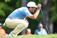 Francesco Molinari (ITA) lines up his putt on 2 during round 4 of the 2019 Charles Schwab Challenge, Colonial Country Club, Ft. Worth, Texas,  USA. 5/26/2019.<br /> Picture: Golffile | Ken Murray<br /> <br /> All photo usage must carry mandatory copyright credit (© Golffile | Ken Murray)