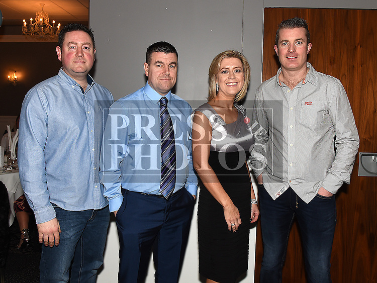 Managment of the senior ladies team Fintan Harmon, Keith Lynch, Stella Loughran and Nicky Harte pictured at the Newtown Blues dinner dance in the Westcourt hotel. Photo:Colin Bell/pressphotos.ie