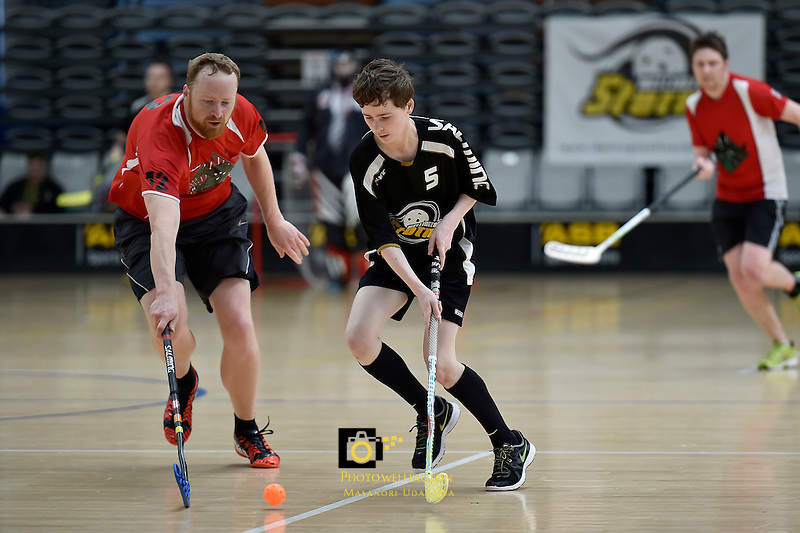 Action from the Floorball - Wellington Open at ASB Sports Centre, Wellington, New Zealand on Sunday 27 September 2015.<br />
