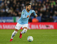 Manchester City's Ilkay Gundogan <br /> <br /> Photographer Andrew Kearns/CameraSport<br /> <br /> English League Cup - Carabao Cup Quarter Final - Leicester City v Manchester City - Tuesday 18th December 2018 - King Power Stadium - Leicester<br />  <br /> World Copyright © 2018 CameraSport. All rights reserved. 43 Linden Ave. Countesthorpe. Leicester. England. LE8 5PG - Tel: +44 (0) 116 277 4147 - admin@camerasport.com - www.camerasport.com