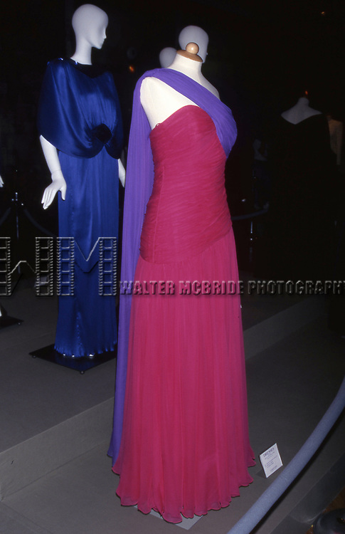 Designer Catherine Walker - Collection of Princess Diana 'Dresses' Auction to Benefit the Royal Marsden Hospital Cancer Fund and Aids Crisis on June 18, 1997 at Christies in New York City.