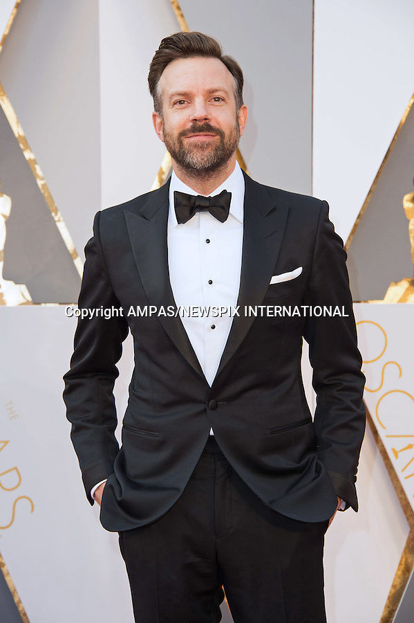 28.02.2016; Hollywood, California: 88th OSCARS - JASON SUDEIKIS<br /> attend the 88th Annual Academy Awards at the Dolby Theatre&reg; at Hollywood &amp; Highland Center&reg;, Los Angeles.<br /> Mandatory Photo Credit: &copy;Ampas/Newspix International<br /> <br /> PHOTO CREDIT MANDATORY!!: NEWSPIX INTERNATIONAL(Failure to credit will incur a surcharge of 100% of reproduction fees)<br /> <br /> IMMEDIATE CONFIRMATION OF USAGE REQUIRED:<br /> Newspix International, 31 Chinnery Hill, Bishop's Stortford, ENGLAND CM23 3PS<br /> Tel:+441279 324672  ; Fax: +441279656877<br /> Mobile:  0777568 1153<br /> e-mail: info@newspixinternational.co.uk<br /> All Fees To: Newspix International