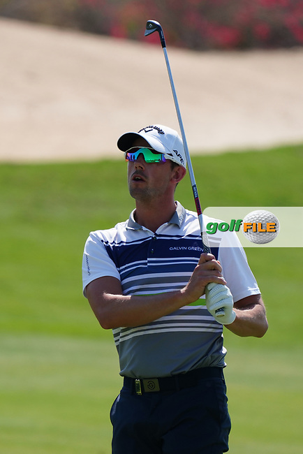 Alexander Bjork (SWE) on the 17th during Round 1 of the Commercial Bank Qatar Masters 2020 at the Education City Golf Club, Doha, Qatar . 05/03/2020<br /> Picture: Golffile | Thos Caffrey<br /> <br /> <br /> All photo usage must carry mandatory copyright credit (© Golffile | Thos Caffrey)