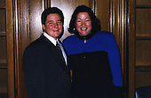 """Washington, DC - (FILE) -- Judge Sonia Sotomayor with godson Thomas """"Tommy"""" Butler at the United States Court of Appeals signing ceremony in 1998 in a photo released by the White House on Tuesday, May 26, 2009.Credit: White House via CNP"""