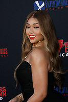 Los Angeles, CA - AUG 13:  Jordyn Woods attends the Los Angeles Premiere of '47 Meters Down: Uncaged' at Regal Village Theater on August 13 2019 in Los Angeles CA. Credit: CraSH/imageSPACE/MediaPunch