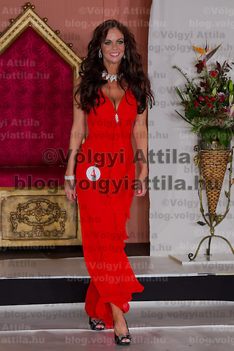 Nora Keseru runner up of the Miss Hungary beauty contest held in Budapest, Hungary on December 29, 2011. ATTILA VOLGYI