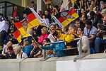 15.04.2018, EnergieVerbund Arena, Dresden, GER, Euro Hockey Challenge, Deutschland vs. Slowakei, im Bild<br /> <br /> <br /> Kind feuert deutsche Nationalmannschaft an<br /> <br /> Foto &copy; nordphoto / Dostmann