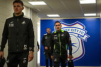 Connor Roberts of Swansea City arrives for the Sky Bet Championship match between Cardiff City and Swansea City at the Cardiff City Stadium in Swansea, Wales, UK.  Sunday 12 January 2019