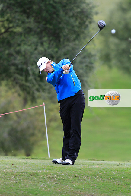 Jordi Garcia Pinto (ESP) during Round 1 of the NH Collection Open at the La Reserva de Sotogrande Club de Golf in Cadiz Spain on Thursday 3rd April 2014<br /> Picture:  Thos Caffrey / www.golffile.ie