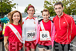 Pictured at the Rose of Tralee 10k on Sunday morning at Tralee Bay Wetlands were l-r: Siobhan Daly (Gneeveguilla), Chilla Vamossy and Linda O'Sullivan (Ardfert ) with Tim Long (Castleisland).