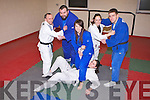 JUDO FINALS: Member's of IT Tralee Judo club who will compete in the All Ireland Intervarsities Judo finals at Trinty College, Dublin on Saturday February 18th training at the IT Tralee South campus on Monday front l-r: Emma Fitzgerald and Amy Madigan-Cooke. Back l-r:Danny Roche, John Griffin, Kirsty McCrea and J T Deenihan.