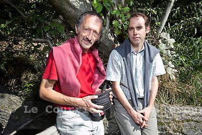 Genève, le 28.09.2009.Karim Nissim et Jérôme Strobel..© Le Courrier / J.-P. Di Silvestro