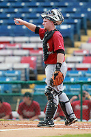 Houston Astros minor league catcher Chris Wallace during a game vs. the Chinese National Team in an Instructional League game at Holman Stadium in Vero Beach, Florida September 28, 2010.   Photo By Mike Janes/Four Seam Images