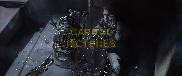 Series T-800 Robot and Jai Courtney<br /> in Terminator Genisys (2015) <br /> *Filmstill - Editorial Use Only*<br /> CAP/FB<br /> Image supplied by Capital Pictures