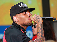 NEW YORK, NY - AUGUST 30: Chris Brown performs on NBC's 'Today' at Rockefeller Plaza on August 30, 2013 in New York City. (Photo by Jeffery Duran/Celebrity Monitor)