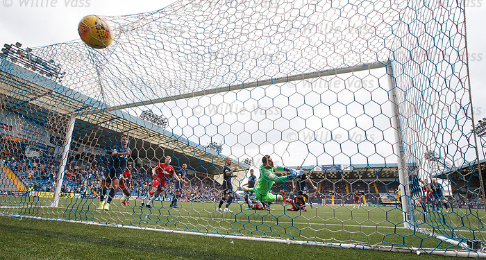 04.08.2019 Kilmarnock v Rangers: Connor Goldson heads in the winner for Rangers