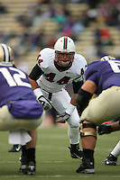 11 November 2006: Pat Maynor during Stanford's 20-3 win over the Washington Huskies in Seattle, WA.