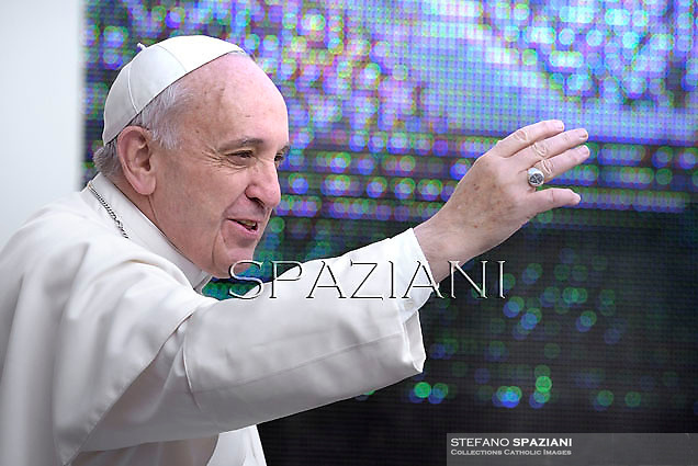 Pope Francis during his weekly general audience in St. Peter square at the Vatican, Wednesday.April 2 2014.