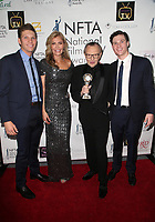 LOS ANGELES, CA - DECEMBER 5: Shawn King, Larry King, Andy King, Larry King Jr., at The National Film and Television Awards at The Globe Theater in Los Angeles, California on December 5, 2018. Credit: Faye Sadou/MediaPunch