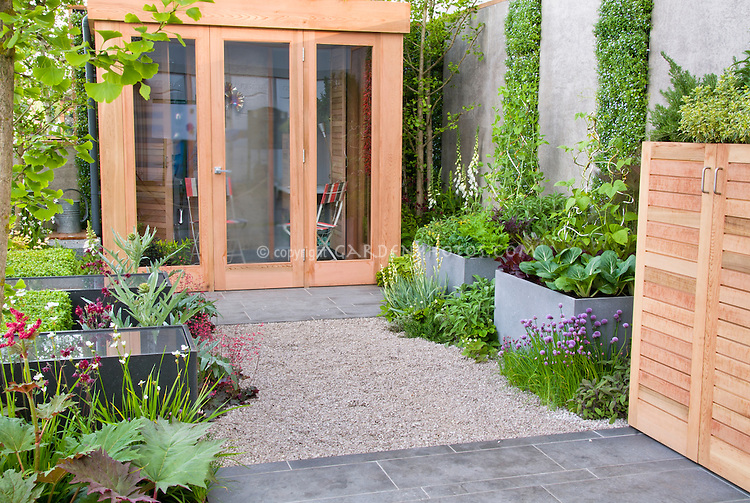 Urban Vegetable & Herb Garden & flowers with house | Plant ...