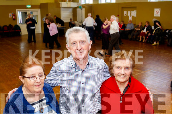 L-R Mary&Michael Mangan with Kathleen Brosnan dancing the evening away at the Slieve Luachra Active retirement network hosted by Knocknagoshel Womans group over 55s last Sunday afternoon in the community centre.