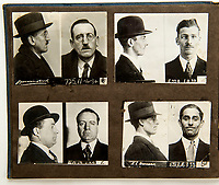 BNPS.co.uk (01202 558833)<br /> Pic: C&amp;T/BNPS<br /> <br /> A fascinating collection of criminals' mugshots from London in the 1920s have been unearthed after 90 years.<br /> <br /> Interestingly, the men are wearing smart suits while the ladies are in hats and bonnets, a far cry from today's less than flattering mugshots.<br /> <br /> In their ranks is a murderer, a group of bank robbers and numerous fraudsters.<br /> <br /> The mugshots belonged to New Scotland Yard Detective Herbert Mew who enforced the law on the capital's streets in the 1920s. In total, he amassed 64 of them.<br /> <br /> They have emerged for auction and are tipped to sell for &pound;800.