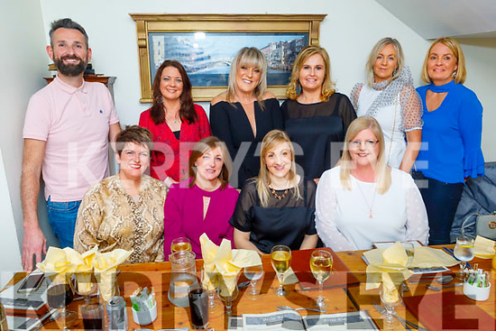 Triple birthday celebrations as Lorraine Griffin (Tralee), Emma Culloty (Tralee) and Bridie Leen (Banna) celebrate their birthdays in Bella Bia on Saturday.<br /> Seated l to r: Sinead Reidy, Lorraine Griffin (Tralee), Emma Culloty (Tralee) and Bridie Leen (Banna).<br /> Back l to r: David O'Brien, Bridget McBride, Fiona Barry, Geraldine Parker, Norma Dunne and Amanda O'Sullivan.
