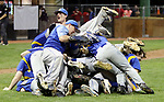 MIDDLETOWN CT. 09 June 2018-060918SV15- Seymour High players celebrate after beating Wolcott High 13-2 in the CIAC Class M baseball championship in Middletown Saturday. <br /> Steven Valenti Republican-American