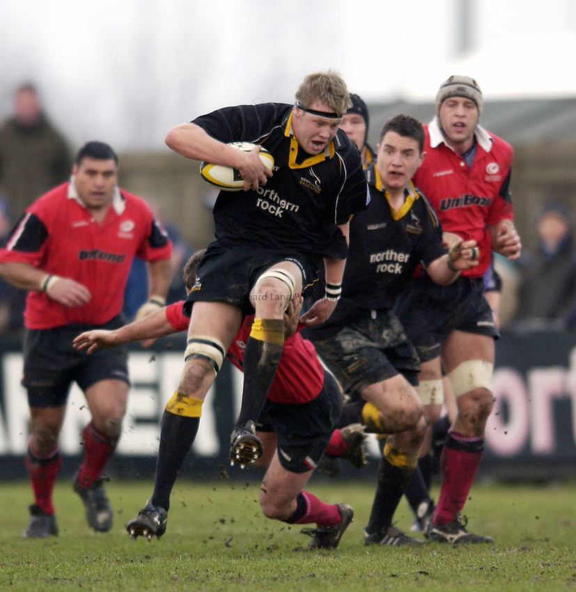 Photo. Jed Wee.Newcastle Falcons v Saracens, Parker Pen Challenge Cup, Kingston Park, Newcastle. 19/01/2003..Newcastle's Craig Hamilton.