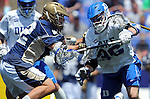 26 MAY 2014:  Jack Bruckner (36) of the Duke Blue Devils battles for the ball against Matthew Collins (42) of the Notre Dame Fighting Irish during the Division I Men's Lacrosse Championship at M&T Bank Stadium in Baltimore, MD. Larry French/NCAA Photos