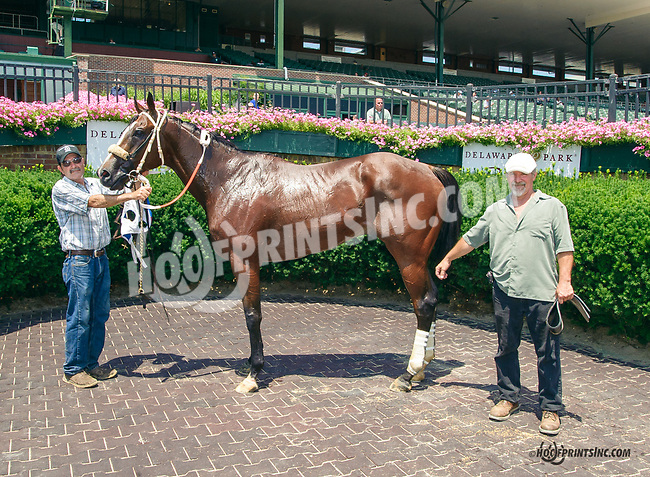 Balto More winning through disqualification of #5 Fond of Candy at Delaware Park on 7/20/15