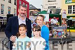 Enjoying Tralee Food Festival in the town Square on Saturday and watching the cooking Demonstration with Noel keane were, l-r John Moriarty, Allison Moriarty, Isabel Moriarty and Sinead Moriarty