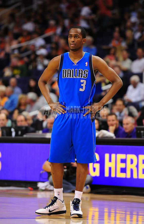 Mar. 27, 2011; Phoenix, AZ, USA; Dallas Mavericks guard (3) Rodrigue Beaubois against the Phoenix Suns at the US Airways Center. Mandatory Credit: Mark J. Rebilas-