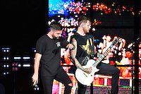 WEST PALM BEACH, FL - AUGUST 05: Singer Jeremy McKinnon and Musician Neil Westfall of A Day To Remember perform at Perfect Vodka Amphitheatre on August 5, 2016 in West Palm Beach, Florida. Credit: MPI10 / MediaPunch