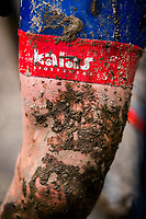 Picture by Alex Whitehead/SWpix.com - 04/02/2018 - Cycling - 2018 UCI Cyclo-Cross World Championships - Valkenburg, The Netherlands - Great Britain, Branding, Kalas, Mud.