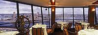 """Europe/France/13/Bouches-du-Rhône/Marseille: restaurant """"Les Trois Forts"""" du Sofitel vieux port et le panorama sur le Vieux Port"""