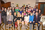Joanne O'Leary, Ballaugh, Killarney, pictured with family and friends as she celebrated her 21st birthday in the Heights Hotel, Killarney on Friday night.........
