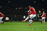 Anthony Martial of Manchester United scores the opening goal during the UEFA Europa League match at Old Trafford. Photo credit should read: Philip Oldham/Sportimage