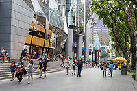 Singapore, Orchard Road Street Scene, People outside ION Mall.