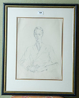 BNPS.co.uk (01202 558833)<br /> Pic: PhilYeomans/BNPS<br /> <br /> Cecil Beaton - a half-length portrait of Ray Bolger<br /> <br /> A remarkable 'time warp' Royal archive amassed by the Queen's dressmaker has been found inside his old country home.<br /> <br /> The late Ian Thomas was a dress designer for members of the Royal Family, including Her Majesty, for over 30 years.<br /> <br /> As an apprentice he worked alongside the renowned fashion designer Norman Hartnell on creating the Queen's coronation dress in 1953.<br /> <br /> His archive includes embroidered samples of the gown worn by Elizabeth II for the historic ceremony in Westminster Abbey that was broadcast to millions.<br /> <br /> Mr Thomas also designed outfits for the Queen Mother and Princess Margaret.