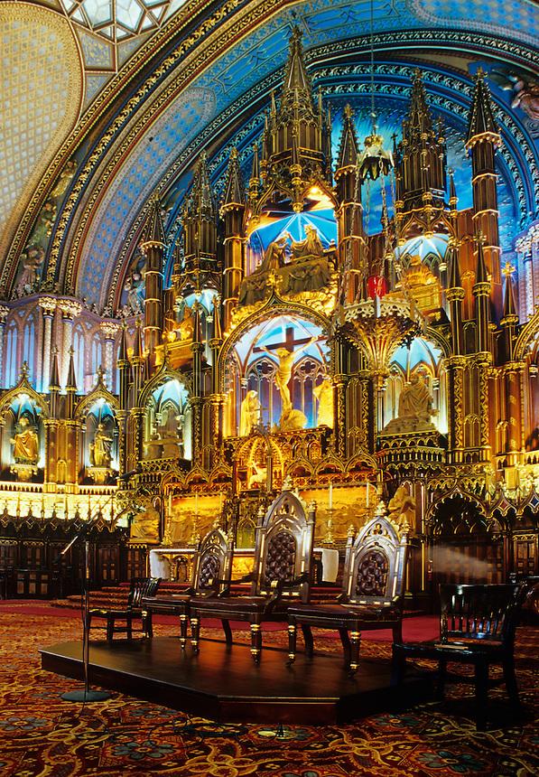 Alter fo the Basilique Notre-Dame Montreal, Quebec, Canada