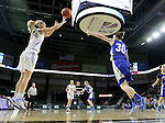 SIOUX FALLS, SD - February 13: Anna Brecht #10 from Sioux Falls Lincoln shoots over Alexis Marsico #30 from Rapid City Stevens in the second half of their game Friday night at the Denny Sanford Premier Center. (Photo by Dave Eggen/Inertia)