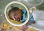 A baby born prematurely rests in an incubator at the St. Daniel Comboni Catholic Hospital in Wau, South Sudan.