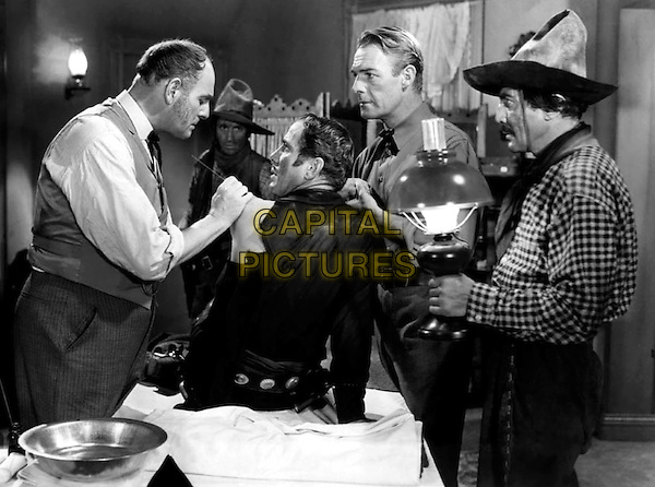 CAST - (L to R) Unknown, Paul Fix, Humphrey Bogart, Randolph Scott & George Regas.in Virginia City.*Filmstill - Editorial Use Only*.CAP/PLF.Supplied by Capital Pictures.