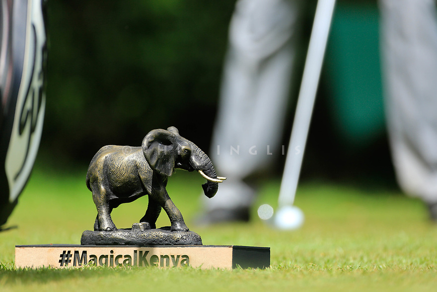 Tee marker during the first round of the Barclays Kenya Open played at Muthaiga Golf Club, Nairobi, Kenya 22nd - 25th March 2018 (Picture Credit / Phil Inglis) 22/03/2018<br /> <br /> <br /> All photo usage must carry mandatory copyright credit (&copy; Golffile | Phil Inglis)