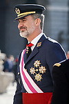 King Felipe VI of Spain attends the New Year Military parade 2020 celebration at the Royal Palace. January 6,2020. (ALTERPHOTOS/Pool)