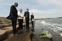 Japan Cardinal visit tsunami area in Miyagi