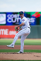 Cedar Rapids Kernels starting pitcher Cole Sands (26) during a Midwest League game against the Dayton Dragons at Perfect Game Field on May 5, 2019 in Cedar Rapids, Iowa. Cedar Rapids defeated Dayton 4-0. (Zachary Lucy/Four Seam Images)